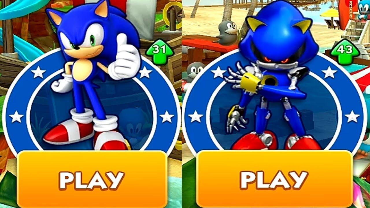Sonic Dash SONIC VS METAL SONIC Android iPad iOS Gameplay