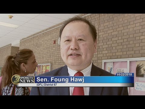 3 HMONG NEWS: Sen. Foung Hawj speaks at a citizenship award ceremony at Harding High School.