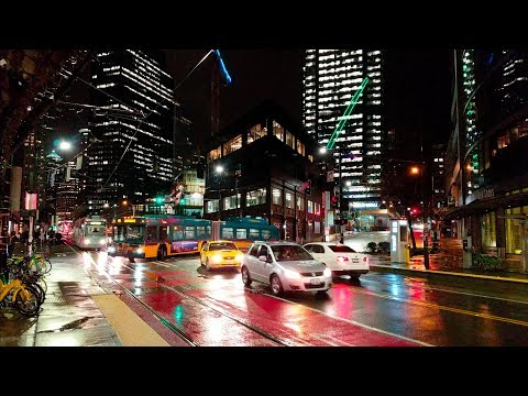 Seattle Streets at Night 2018 4K UHD