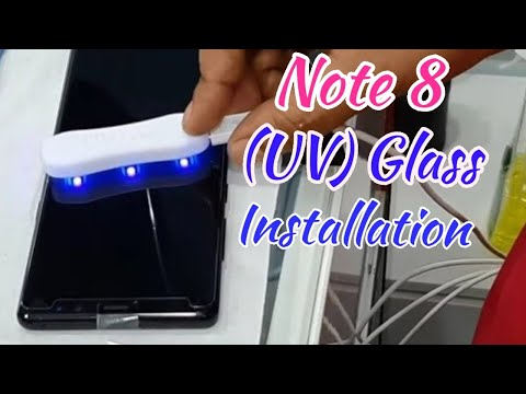 Samsung Note 8 /Note 9/ S10  /S10 Plus (UV) Glass Protection Installing