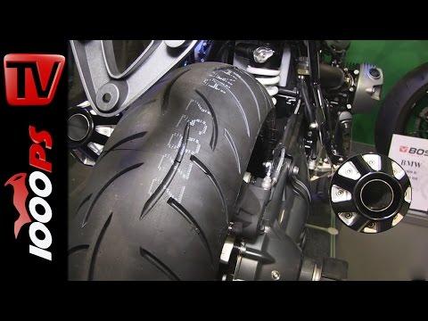 BOS Auspuff auf BMW R nineT - Soundcheck | Motorräder Dortmund 2015 Foto