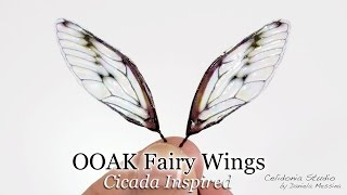 Fairy Wings for OOAK Art Dolls Tutorial - Cicada Inspired