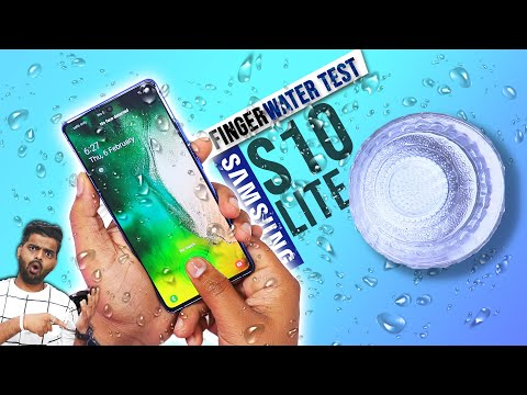 Samsung S10 Lite In-Display Fingerprint Scanner Water Test 🌊 पानी में चलेगा?