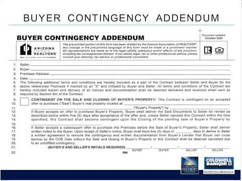 Ask the Broker: AAR Buyer Contingency Addendum 8 - 15 - 13