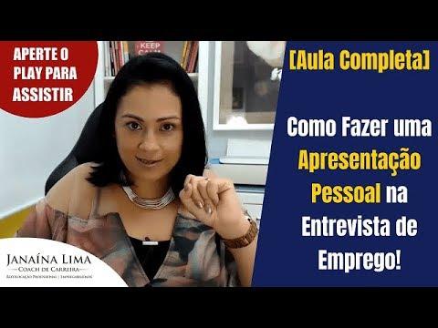 Видео Apresentação para entrevista de emprego