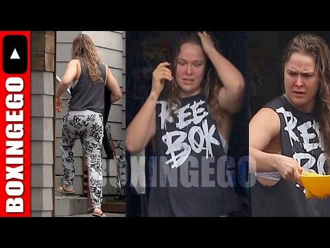 RONDA ROUSEY FIRST IMAGES SINCE 2ND UFC LOSS KNOCKOUT EMERGE ROUSEY'S HOUSE TAGGED WITH VANDALISM
