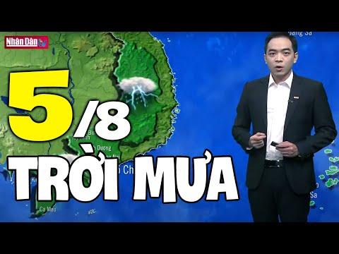 Dự báo thời tiết hôm nay và ngày mai 5/8 | Dự báo thời tiết đêm nay mới nhất