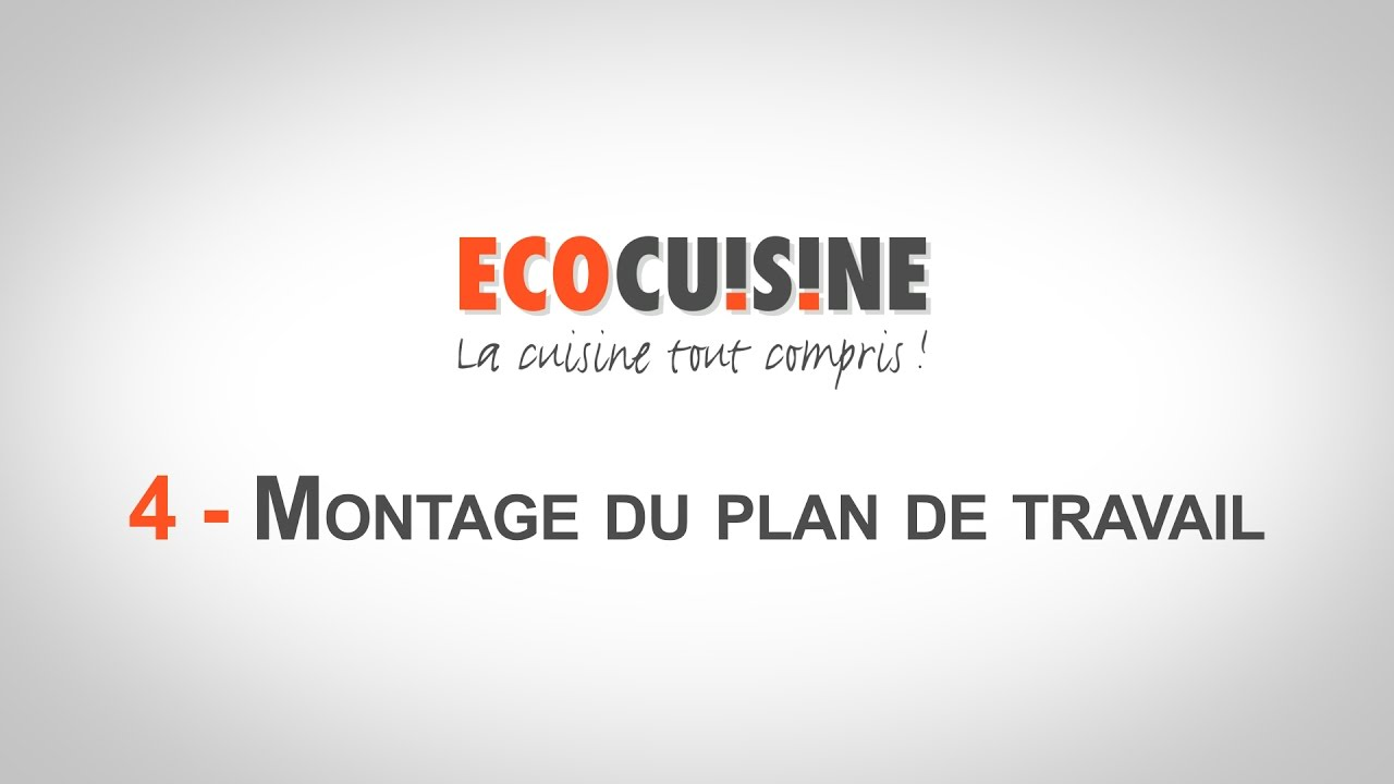 4 montage du plan de travail monter sa cuisine soi m me youtube. Black Bedroom Furniture Sets. Home Design Ideas
