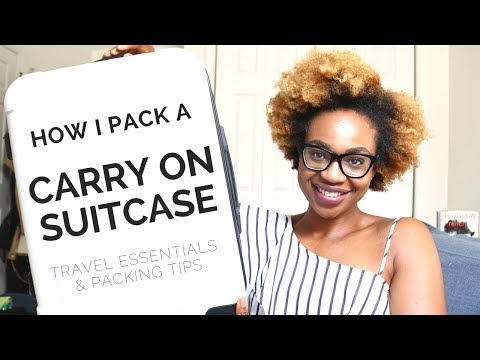 Beauty & Clothing Travel Essentials | How I Pack a Carry On Suitcase