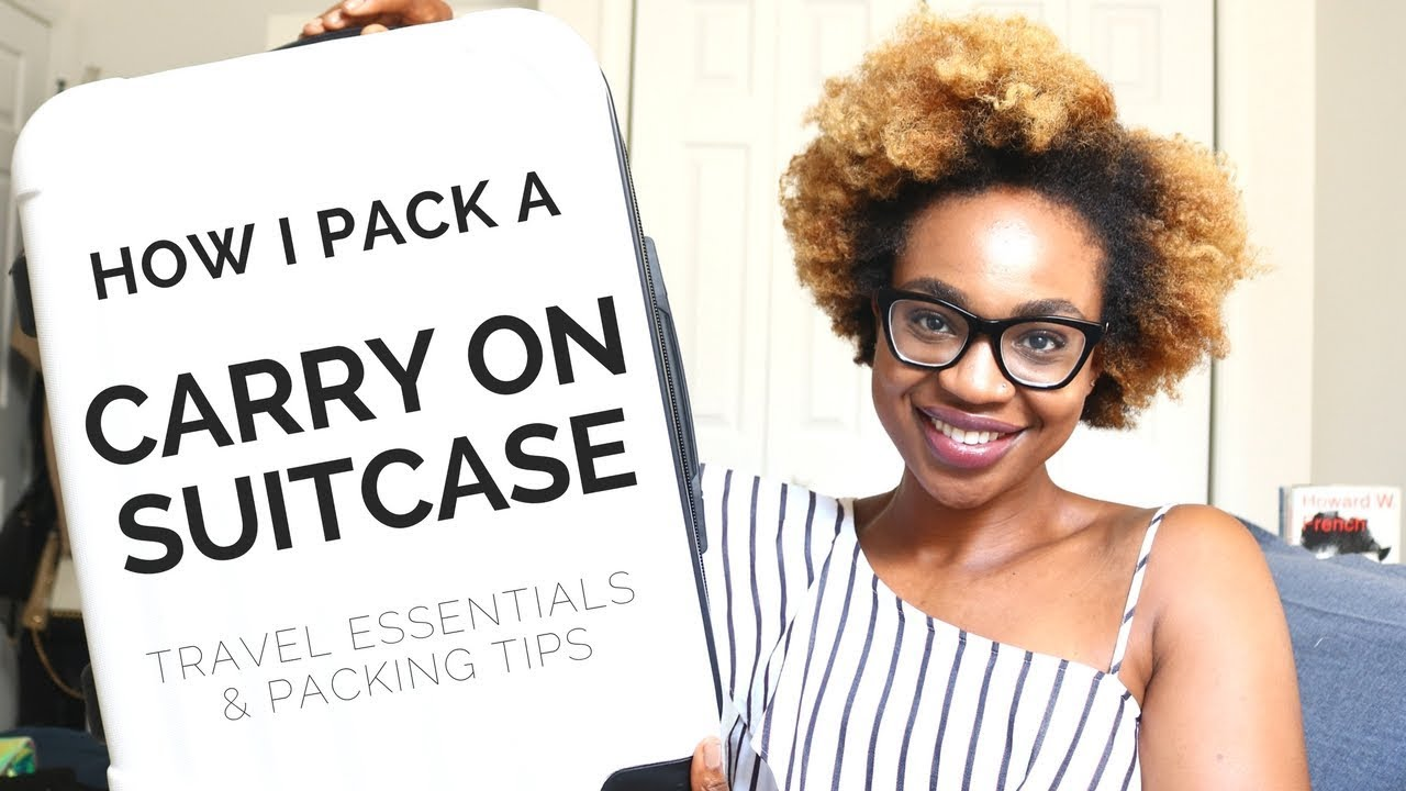 how to pack a carry on suitcase youtube