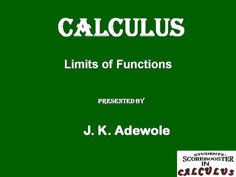 Students Score Booster in Calculus Video 1 Limits of Functions