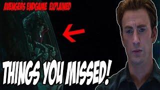 Things You MISSED! Avengers Endgame (Explained)