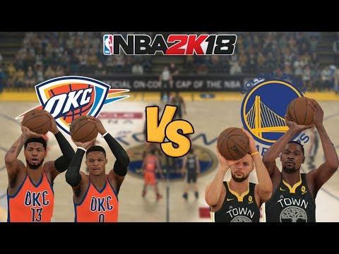 NBA 2K18 - Oklahoma City Thunder vs. Golden State Warriors - Full Gameplay