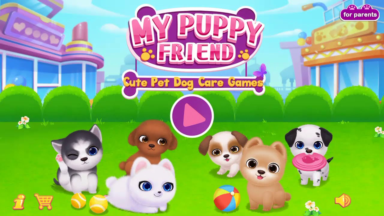 My Puppy Love Friend Cute Funny Pet Games, Cute Puppies and Dogs, Fun PetCare, Virtual Pet Games
