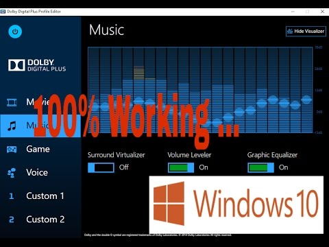 Dolby Advanced Audio Driver Windows 10 Download