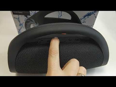 Портативная блютуз колонка акустика Bluetooth для телефона с флешкой повербанк черная JC-222
