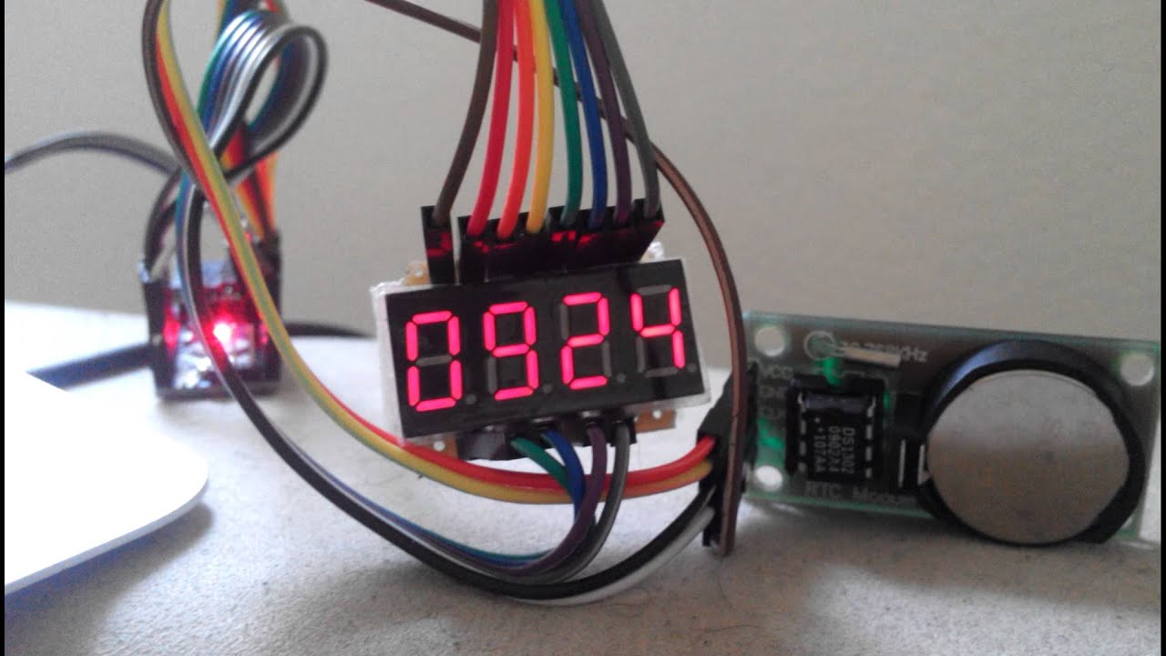 16042014 7 Segment Led Rtc Youtube For Beginners Digital Clock With 7segments And