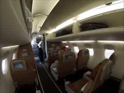 Oman Air Embraer 175 Muscat-Dubai. Lovely short flight! [AirClips full flight series]