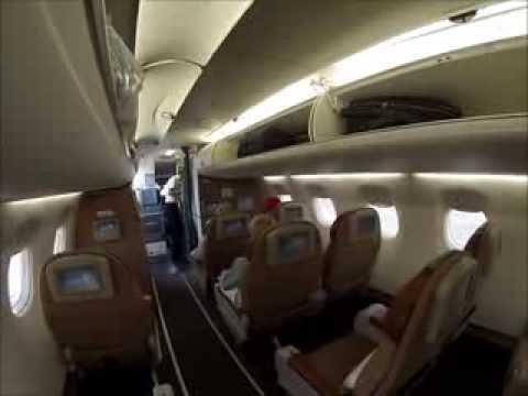 Oman Air Embraer 175 Muscat-Dubai. Lovely short flight! [AirClips full  flight series]
