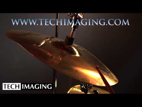 High Speed Camera Video - Cymbal being hit