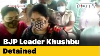 BJP's Khushbu Sundar Detained During Protest Amid Manusmriti Remarks Row