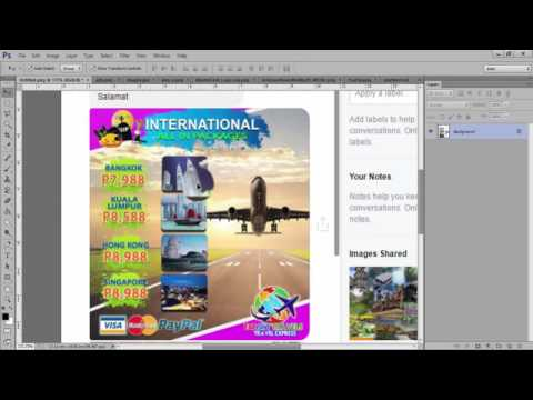 Tagalog Tutorial on How to create Ads/ Flyer/Banner using Photoshop