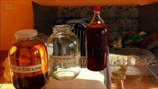 клюква на коньяке  Вкусные настойки ч 2  Cranberry on cognac liqueur Delicious hours 2