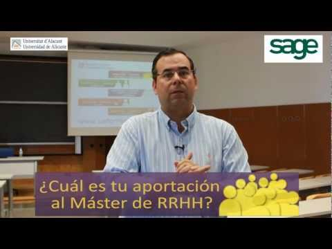 Luis Hidalgo Pottecher | SAGE | Máster RRHH Universidad de Alicante