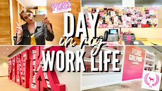 work day in my life vlog | working for Victoria's Secret PINK Corporate HQ | Columbus, Ohio