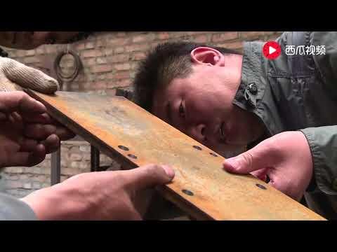 【發明迷】 農村大叔發明鋸木神器,刨鋸一�