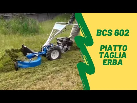 bcs 602 con piatto taglia trincia erba prova 1 youtube