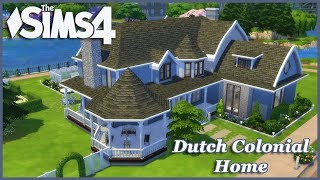 The Sims 4 - Large Dutch Colonial Basegame Home 1/2(House Build)