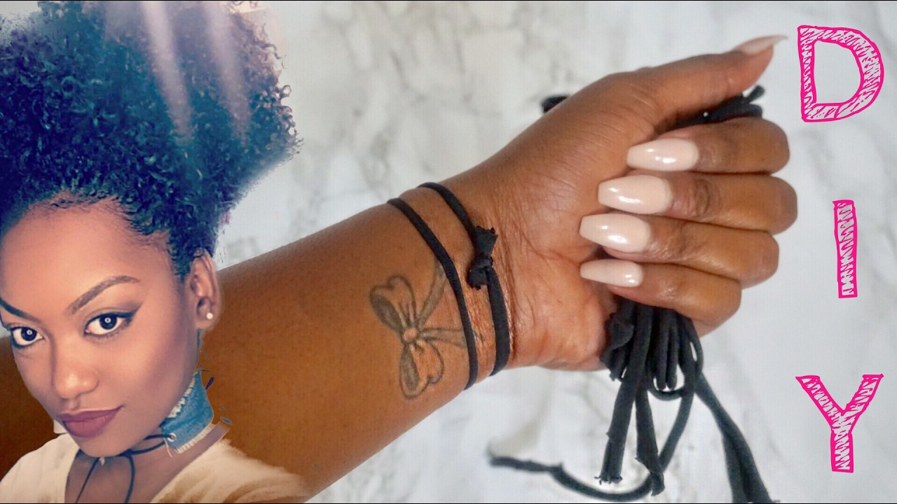 DIY Hair Ties for THICK Natural Hair  ee1a1690887