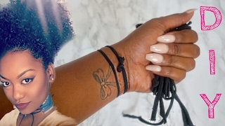 DIY Hair Ties for THICK Natural Hair | Good for BUNS, Puffs, and The Banding Method!!!