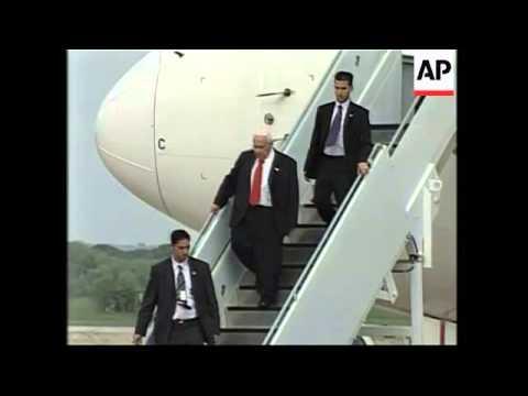 Israeli Prime Minister Sharon Arrives In US