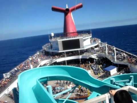 Carnival Valor Water Slide YouTube - Cruise ship slide