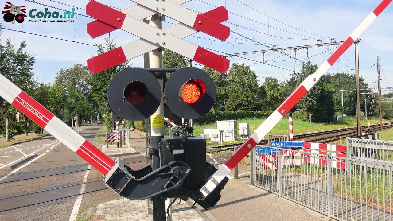 Spoorwegovergang Haelen  😍4K😍 // Dutch railroad crossing