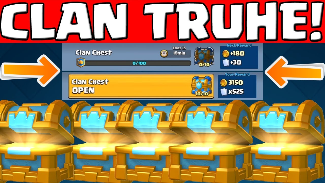 CLAN TRUHE! || CLASH ROYALE UPDATE! || SNEAK PEEK #4 || CLAN CHEST ...