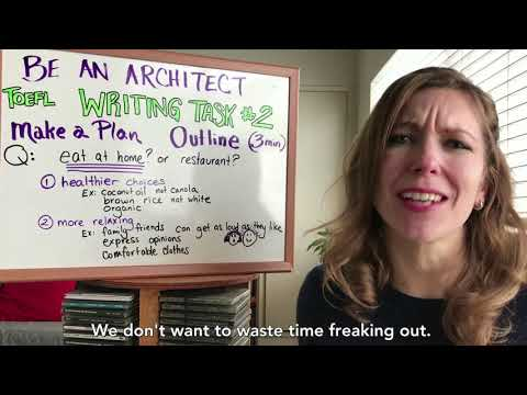 Writing Task #2 Requires A Plan: Be An Architect