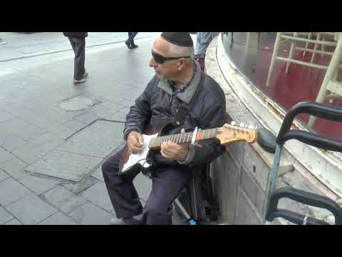 Religious Jewish music on the streets of Jerusalem