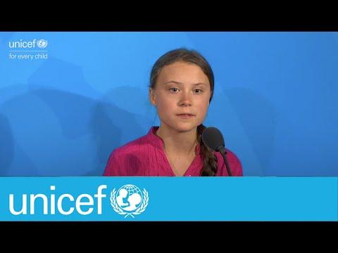 """How dare you"" Greta Thunberg addresses UN Climate Summit | UNICEF"