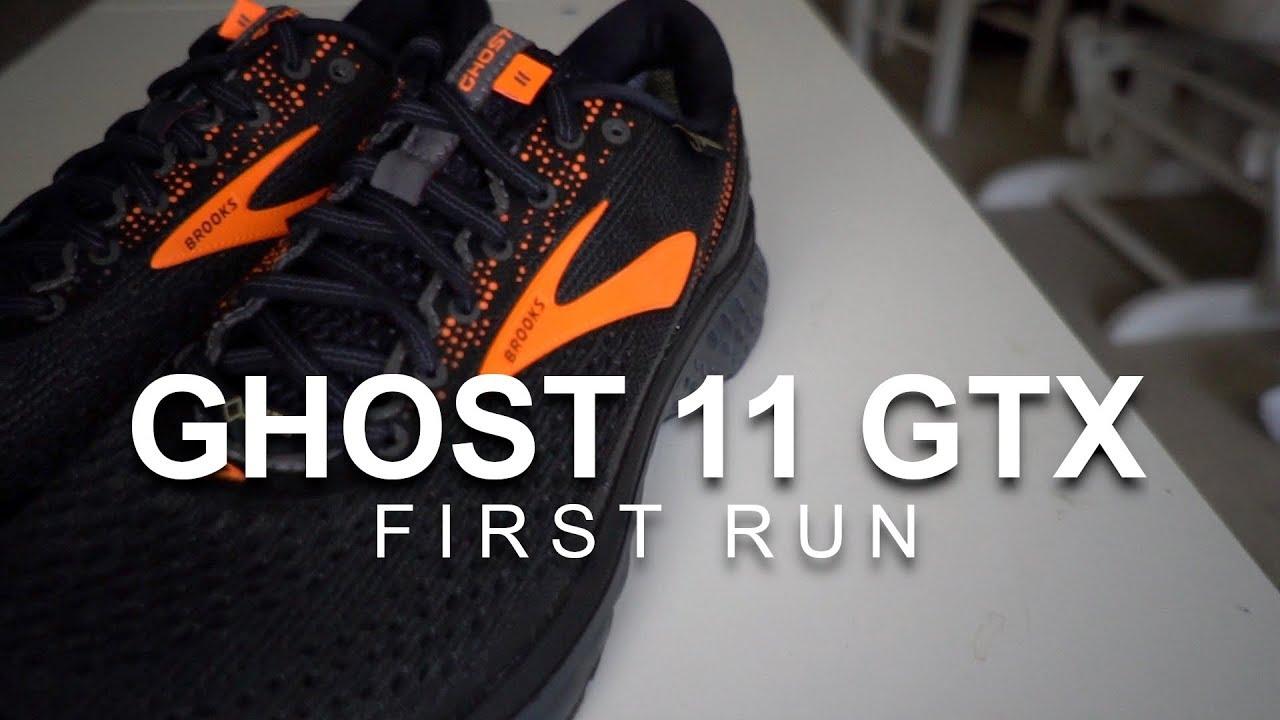 a1a9cf57cee9d Brooks Ghost 11 GTX - First Run - YouTube