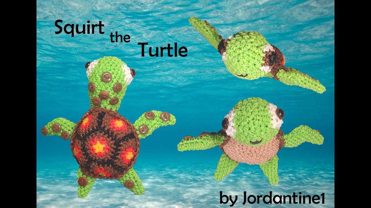 Amigurumi Tortoise Tutorial : Sea turtle loomigurumi amigurumi part rainbow loom band crochet