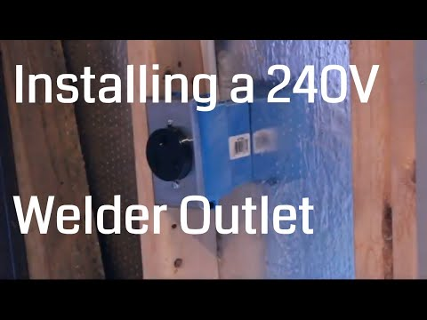 install 50 amp welder outlet circuit in workshop for 220/240 vac mig welder  - youtube