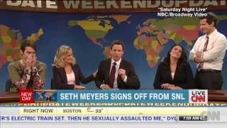 Seth Myers signs off on 'SNL'
