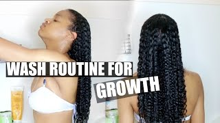 My Best Wash Routine To Stimulate Hair Growth|Natural Hair (Long or Short Hair)