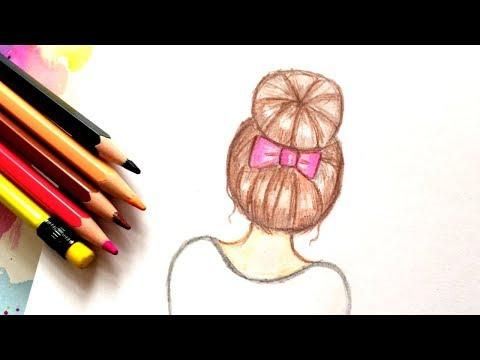 Как Рисовать Девочку Tumblr ♥ How To Draw A Tumblr Girl - Draw Hair ♥ Как рисовать волосы