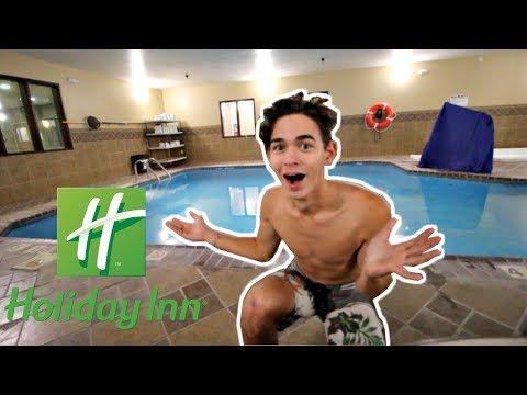 SNEAKING INTO A HOTEL POOL!