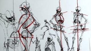 Уроки скульптуры и рисунка: фигура человека, часть 1, наброски