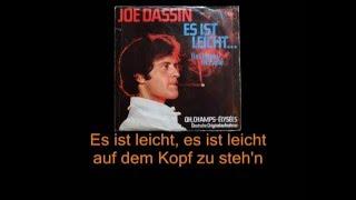 Joe Dassin - Es ist Leicht... (Version allemande de Le Chemin de Papa, avec paroles)